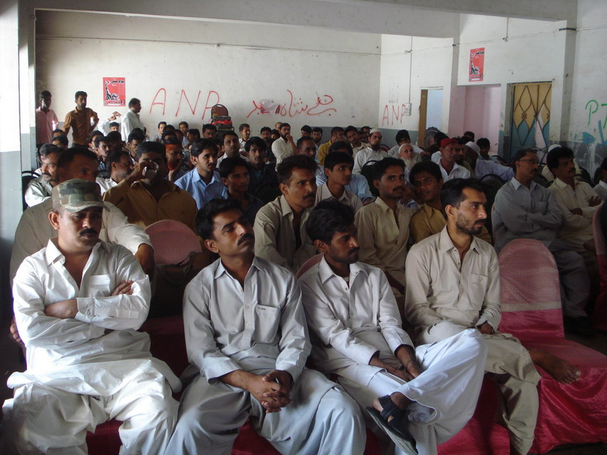 کراچی میں یومِ مئی پر پی ٹی یو ڈی سی کے زیرِاہتمام جلسہ عام