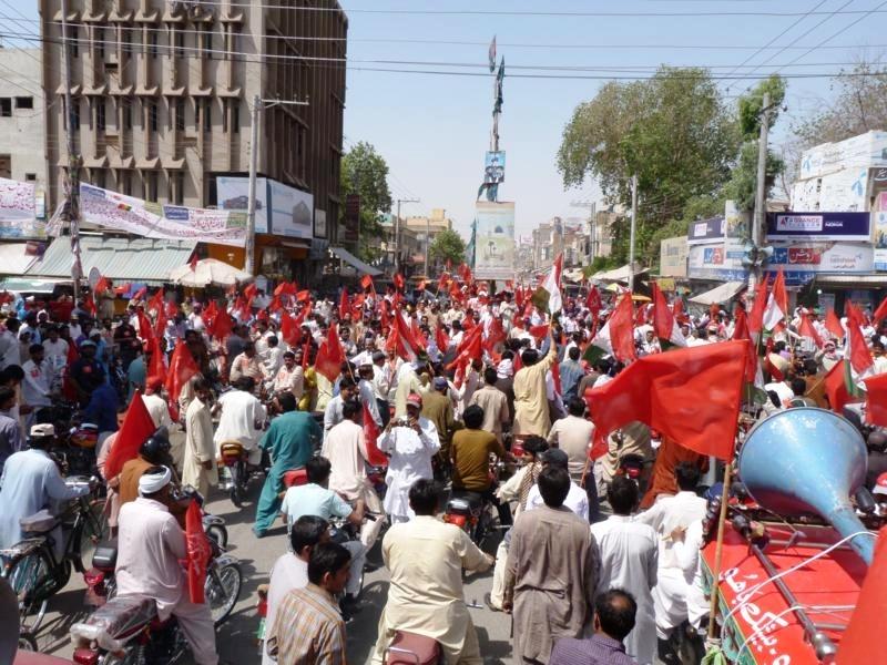 عالمی یوم مزدور 2012ء : رحیم یارخان میں ہزاروں محنت کشوں کی ریلی