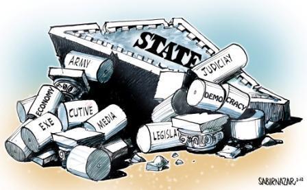 ریاستِ پاکستان کا زوال