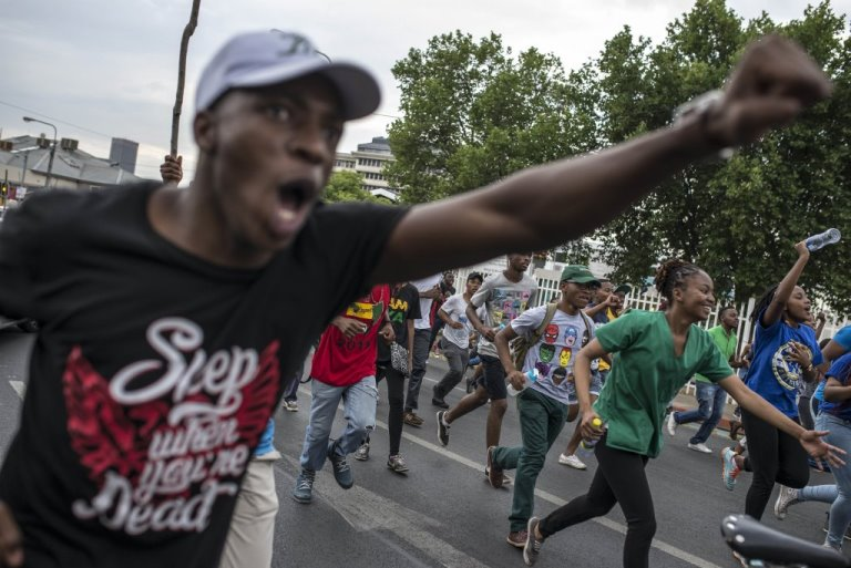 University of Pretoria students protest against tuition fee increment