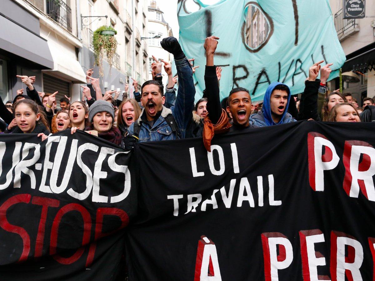 فرانس: مزدور دشمن قانون کے خلاف بغاوت