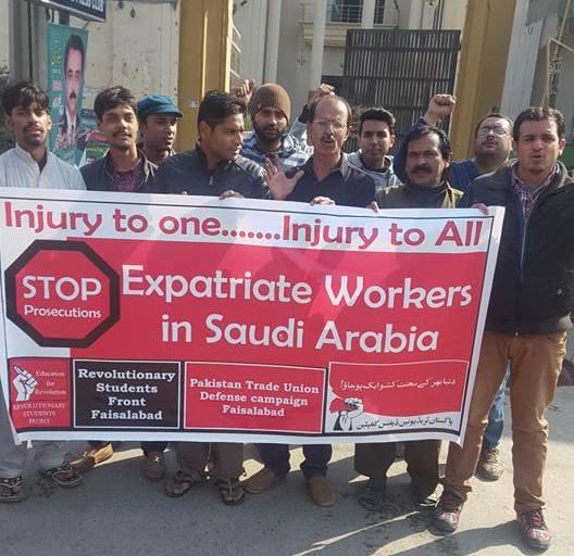 سعودی عرب میں محنت کشوں پر ریاستی جبر کے خلاف ملک گیر احتجاج جاری