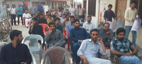 راولاکوٹ: جموں کشمیر نیشنل سٹوڈنٹس فیڈریشن کے زیر اہتمام گلگت بلتستان پر سیمینار کا انعقاد